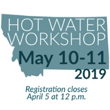 Hot Water May 10-11 2019. Registration closes April 5 at 12 p.m.