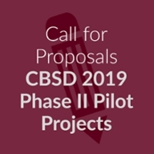 Call for proposals: CBSD 2019 Phase II Pilot Projects
