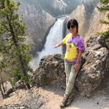 Image of Xiaobo Wang in Yellowstone National Park