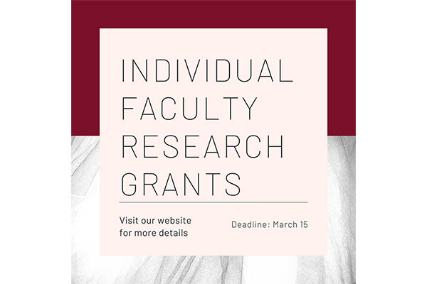 individual faculty research grants