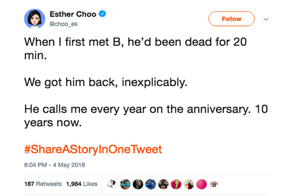 Esther Choo Tweet
