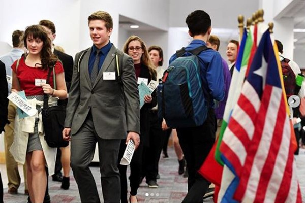 students at the Montana Model UN conference
